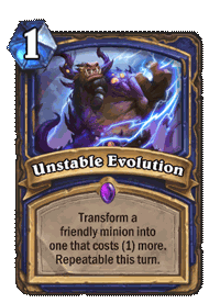 Unstable Evolution